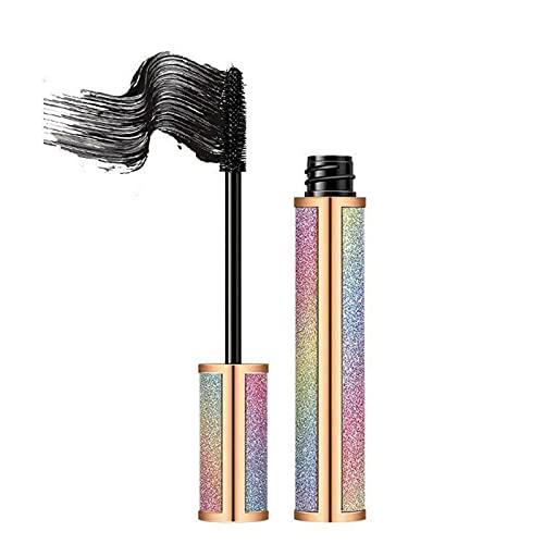 Galaxy Mascara Flexible Bürste, 4D Seidenfaser Pure Plant Mascara, verdickende verlängernde Mascara, langlebige wasserdichte Mascara