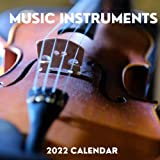 Music Instruments 2022 Calendar: January 2022 - December 2022 Square Calendar Present | Music Instruments Lover Gift Idea For Men & Women | Photo Book Monthly Planner With USA Holidays