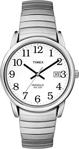 Timex Classic T2H451 - Reloj de cuarzo para hombres, correa de acero inoxidable, color plata