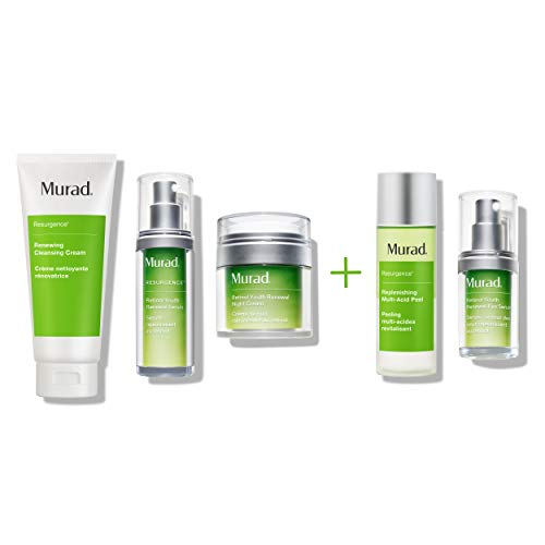 Murad 90 Day Active Renewal Kit for Lines and Wrinkles - Retinol Youth Renewal Serum, Renewing Cleansing Cream, Retinol Youth Renewal Night Cream, Retinol Youth Renewal Eye Serum and Replenishing Multi Acid Peel ($361 Value)