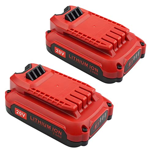 Gooality 2 Pack 20V 3.0Ah Battery Compatible with Craftsman V20 Lithium Ion Battery CMCB202 CMCB204 for Craftsman V20 Cordless Drill Combo Kit CMCK200C2 CMCD700C1 (Only for V20 Series)