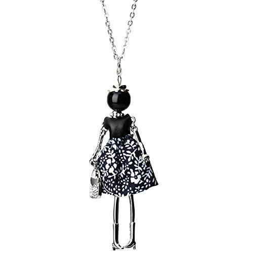 Moda donna panno bambola ragazza ciondolo lunga collana maglione gioielli regalo 2