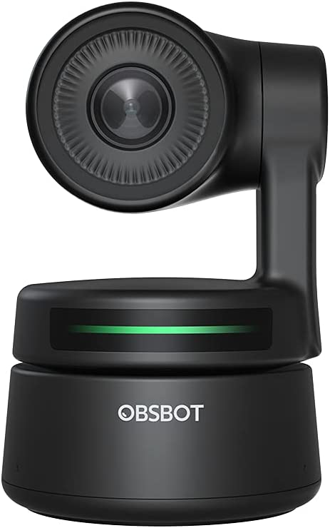 OBSBOT Tiny PTZ Webcam, AI-Powered Framing & Gesture Control, Full HD 1080p Webcam with Dual Omni-Directional Mics, 90-Degree Wide Angle, Low-Light Correction, Works with Zoom, Skype and More
