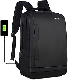 Men's USB Charging Backpack 15.6 Inch Computer Bag Travel Backpack 1809 - Black