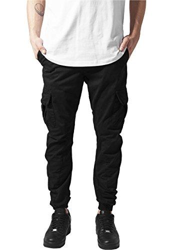Urban Classics Herren Hose Cargo Jogging Pants, Schwarz (Black), 3XL