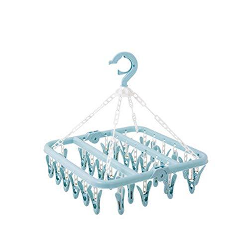 Clips Wäscheständer, Plastik Klammer Faltbar Innen Socke Trockner für Unterwäsche Kleidung, Platzsparend Aufhänger