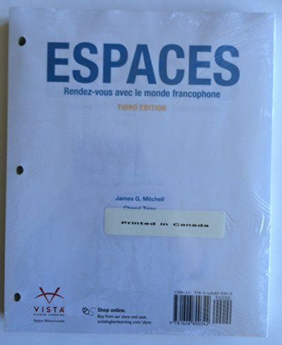 Espaces 3rd Looseleaf Student Edition