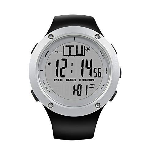 Cloudbox Angeluhr Angeln Barometer Uhr Wasserdicht Höhenmesser Thermometer Uhren Schwarz auf Weiß