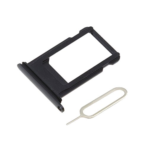 Afeax SIM Card Tray Holder Replacement for iPhone X 5.8 inch Space Grey Black