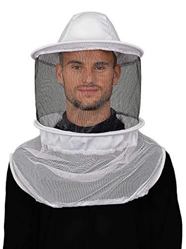 Humble Bee 210 Polycotton-Imkerschleier mit rundem Hut, linen white, standard, 210-ST,Elfenbein