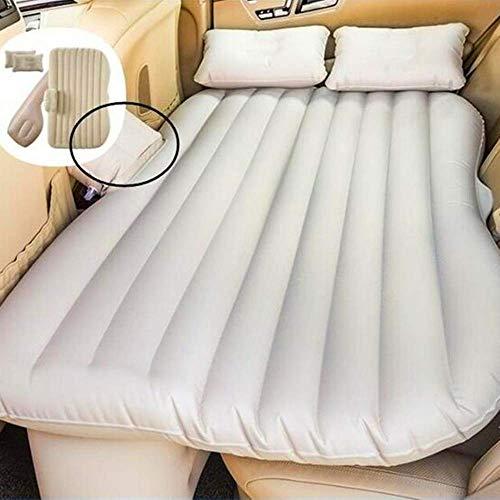 Zixin Autoreisebett, Auto-Rücksitzabdeckung Luftmatratze Reisebett Aufblasbare Voiture Auto Bed Lit Voiture Air Bed (Color : White)