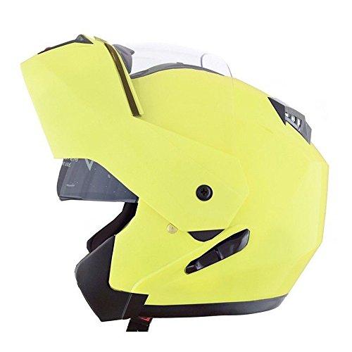 Casco modular amarillo con doble visera de CRUIZER