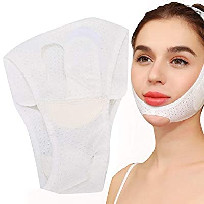 Breathable Facial Slimming Strap, Adjustable Double Chin Reducer V Line Face Tightening Lifting Belt Elastic Face Liftin V Shaped Slimming Bandage