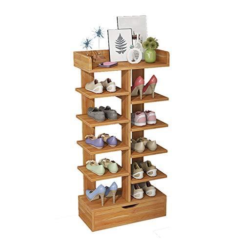 MICEROSHE Zapatero Conveniente Entrada de 7 Pisos, Estante de Madera, Estante para Zapatos para Cocina, vestidor. Regalos para el Hogar (Color : Khaki, Size : 40x21x92cm)
