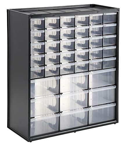 Stanley Aufbewahrungsbox (mit 39 Schubfächern, Maße 36.5 x 43.5 x 15.5 cm, geeignet für Wandmontage) 1-93-981