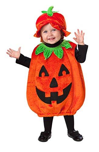 amscan 999674 Baby-Jack-o-Laterne-Kostüm – Alter 12–24 Monate, 1 Stück, Orange, 1-2 Jahre