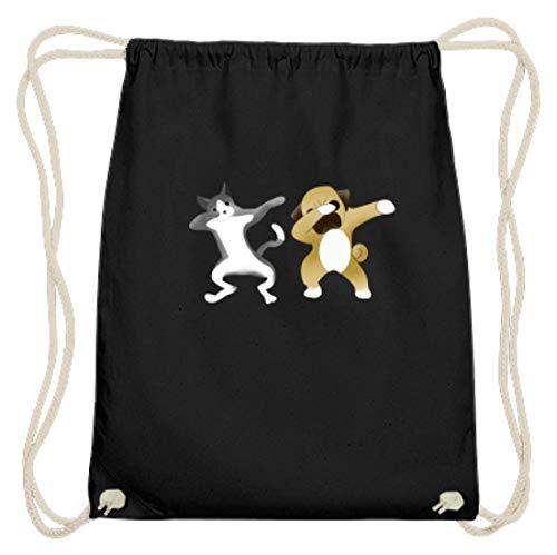 Dabbing - Bolsa de gimnasio de algodón para perros, gatos y mascotas, diseño sencillo y divertido