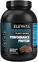 Elevate Nutrition Plant Based Vegan Protein Powder, 26 Servings, Low Carb, NO Sugar, High Protein, High BCAAs, High Glutamine, GMO-Free, Dairy and Soy Free, NO Artificial (Chocolate Brownie)