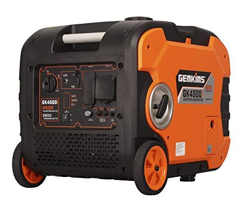 Genkins 4500 Watt Portable Inverter Generator Gas Powered Ultra Quiet RV Ready Camper Friendly