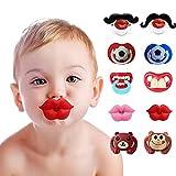 CDIYTOOL Lustige Baby Schnurrbart-Schnuller, 10 Stück, lustige Baby-Schnuller für Neugeborene mit...