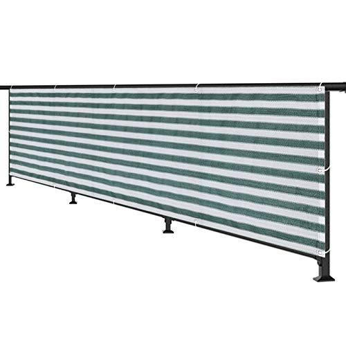 Hs&sure Balcón Pantallas Protectoras de privacidad Cerca de Malla Transpirable UV Protección con el Ojal. HDPE para balcón Porche Cubierta al Aire Libre Patio Trasero de cortaveja de Viento