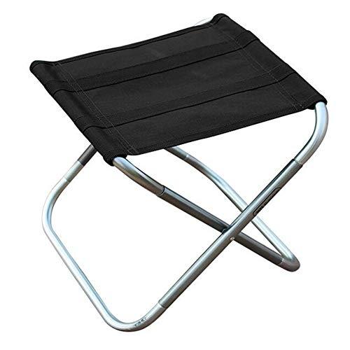 QIDI Chaise de pêche Tabouret de Pique-Nique en Alliage d'aluminium Simplicité Moderne Pliable Facile à Transporter Pêche de pêche ultralégère Adulte - Noir/Vert - Deux Charges