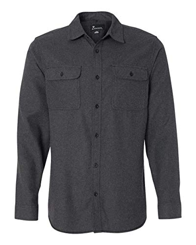 Burnside B8200 - Solid Long Sleeve Flannel Shirt Charcoal