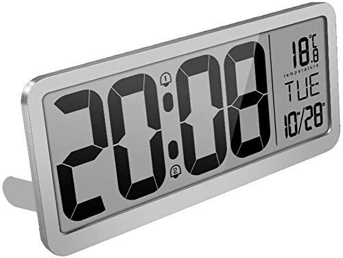 Digitaler wecker Extra große Digitale Wanduhr Tischuhr Auto Time Selbsteinstellung Wecker Auto DST Zeitwechsel Jumbo Nummer Uhr Datum Digitaler Funk-Wecker