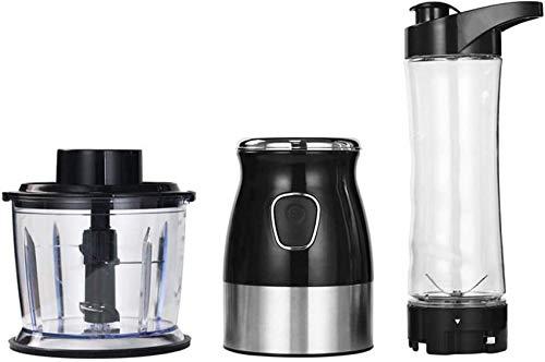 Juicer MachinesJuicer Blender, 3 en 1 Blender/Chopper Personal/Molinillo de café eléctrico, Blender Multifuncional Single Sirva con Tapa de Viaje para fabricar Batidos Juicer Blender 500W Motor, L