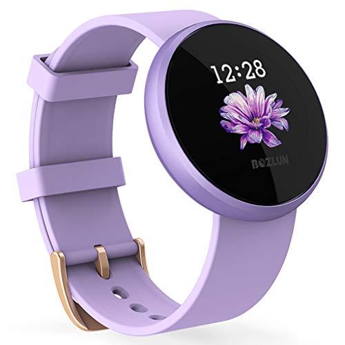 Sainagce Reloj Inteligente para Mujer y Hombre, Resistente al Agua, IP67, con Pantalla a Color, Despertador, pulsómetro, Monitor de sueño, recordatorio de Ciclo.