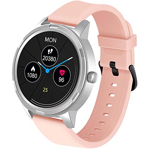 WAFA Smart Watch for Android Phone and iPhone Compatible , Fitness Tracker Watch with Heart Rate Blood Pressure Monitor, Full Touch Screen IP68 Waterproof GPS Activity Tracker Pedometer Sleep Monitor
