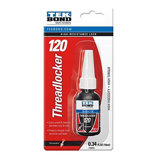 TekBond Threadlocker Adhesive, Red Threadlocker with 120 High Strength.34oz (Pack of 1)