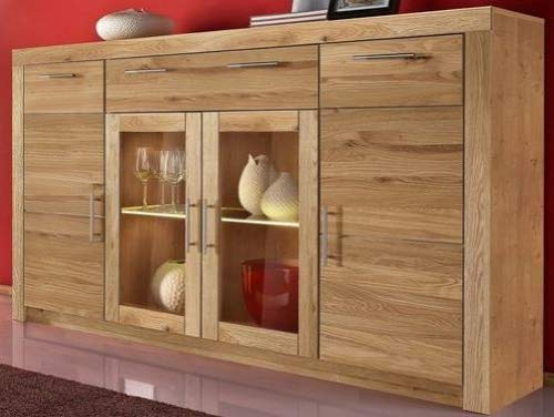 Anrichte Highboard Kommode Sideboard Wildeiche - (4049)
