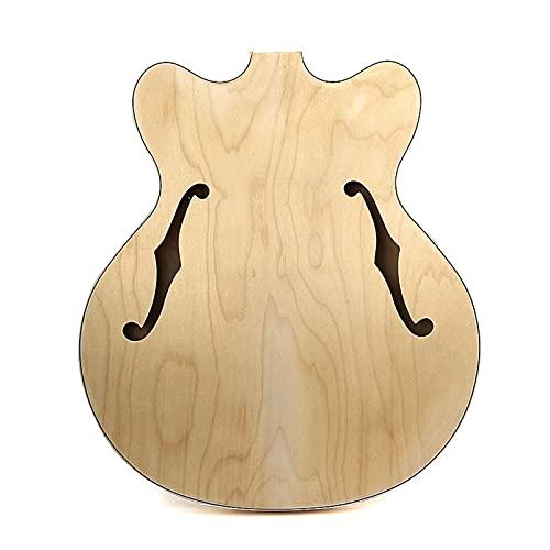 Cuerpo Guitarra Cuerpo De Guitarra Jazz Muy Fino, Contrachapado De Arce, Parte Trasera De Madera Maciza Kits Guitarra Bricolaje
