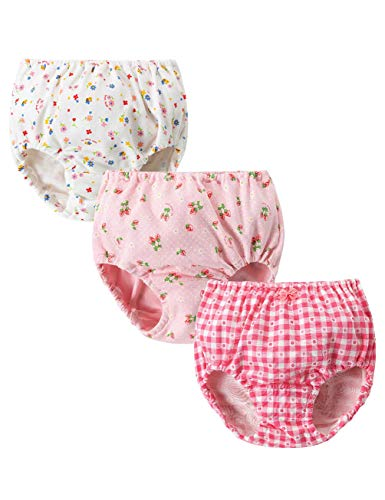 Atexiu女の子 パンツ 綿100% ガールズ ショーツ 下着 子供 肌着 かわいい 3枚セット ベビー キッズ ジュニア 130cm