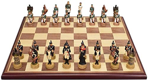 Qualität Schach Schachbrett aus Holz für Kinder Intellektuell Entwicklung Lernen Spielzeug Simulation Charakter Resin Schachfigur Speicher Checkers Schach Hand Crafted (Leisure Puzzle UNT.