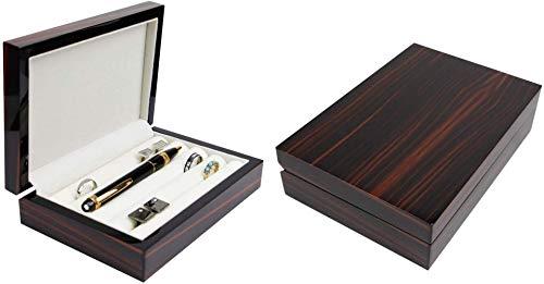 Gemelos anillos caja de almacenamiento organizador de caja de joyería de los hombres regalo