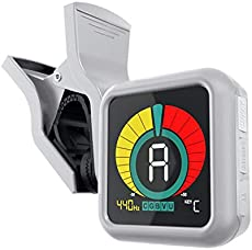 KLIQ UberTuner - Professional Clip-On Tuner for All Instruments (multi-key modes) - with Guitar, Ukulele, Violin, Bass & Chromatic Tuning Modes, White (Special Edition)