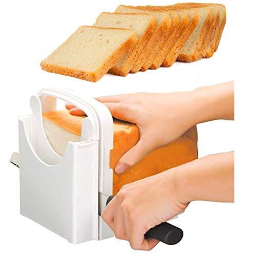 Rebanador de pan, Rebanador de Pan Plegable Rebanador de Pan Ajustable Rebanador de Pan Plegable Rebanador de Pan Plegable Manualmente Tabla de Cortar de Pan para Pasteles de Pan Caseros Bagels