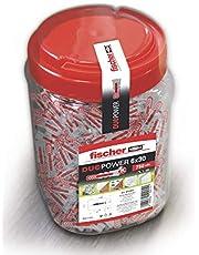 fischer - DuoPower 6X30 wandpluggen, hangpluggen, universele pluggen, nylon pluggen, 750 stuks