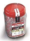 fischer - Bote DuoPower 6X30, tacos para pared, tacos para colgar, tacos universales, tacos de nylon, Bote de 750 Uds