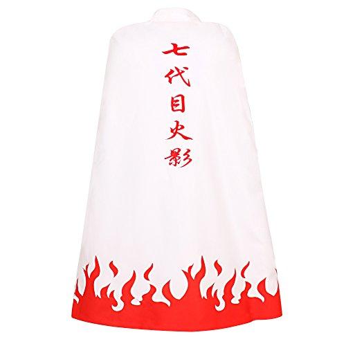 CG Costume Men's Uzumaki Cloak 7th Hokage Cloak Boruto Robe Cosplay Costume Large White