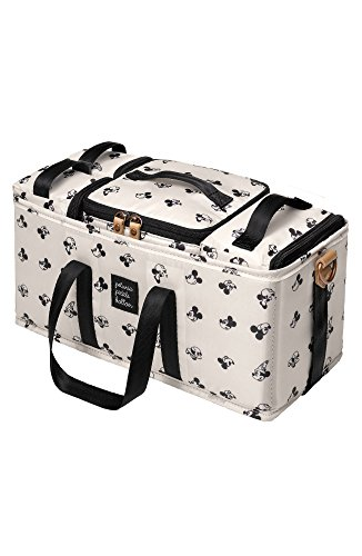 Petunia Pickle Bottom Diaper Caddy | 3-in-1 Caddy for Organization | Perfect Baby Caddy to Keep Diaper Bag, Stroller, or Nursery Organized| Machine Washable | Disney's Mickey Mouse, Beige