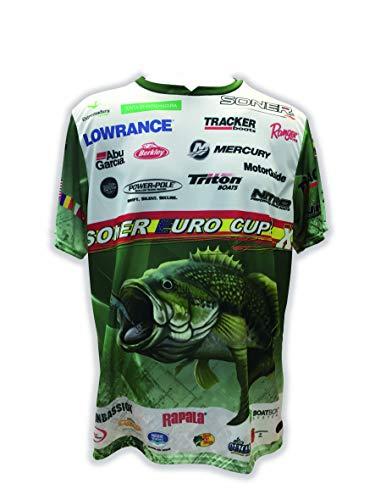 CUSTOM COVERS BY SONER Camiseta Deportiva de Pesca Especial Campeonato de Pesca X Soner Euro Cup Color Verde (T.S)