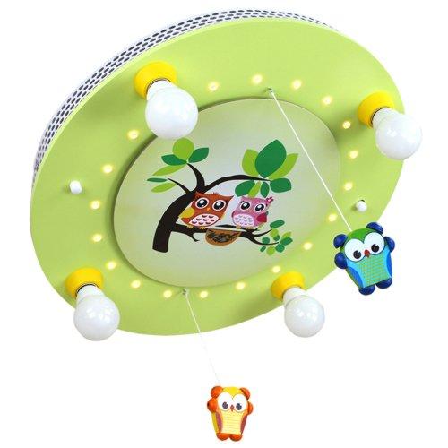 Mobile Famille Elobra-Leuchten 128220 Plafonnier 4 LED Vert citron