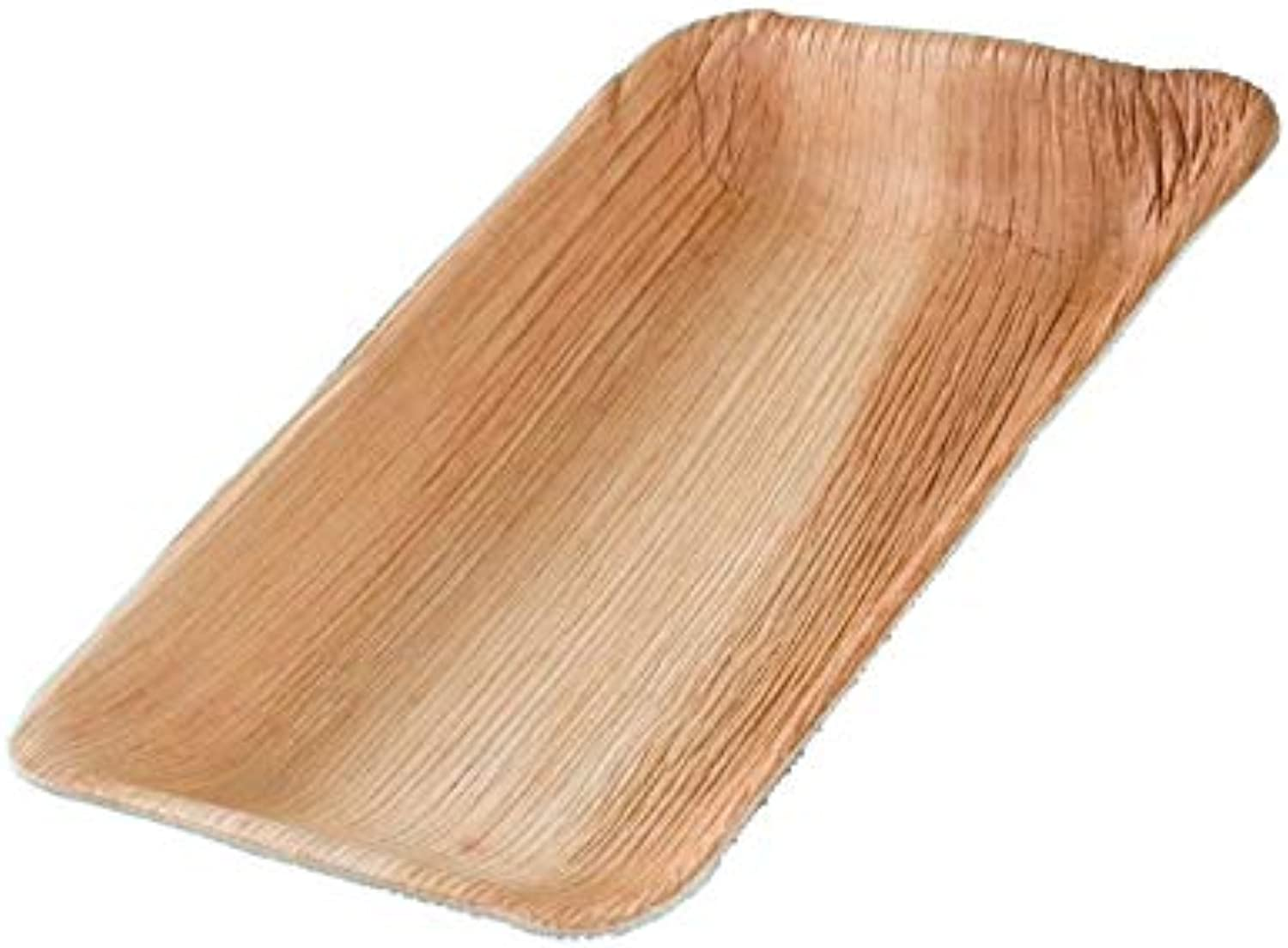 Pro DP 200 Organic Palm Leaf Plates Palm Leaves Finger Food Snack Plate Party Plates Square 25 x 15 cm 25 mm Deep (incl. DSD Fee)