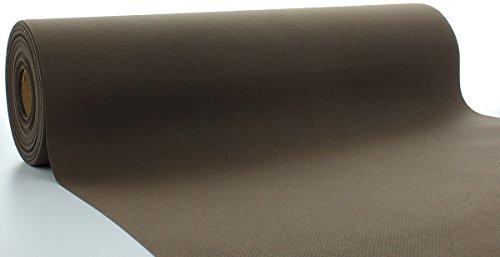 Sovie HORECA Linclass® Airlaid Tischläufer 40 cm x 24 m | Tischdecken-Rolle stoffähnlich | praktische Einmal-Tischdecke für Hochzeit oder Partys | Braun