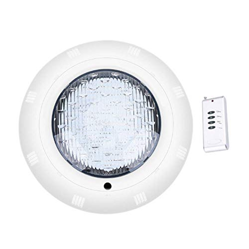 LED Poollampe Unterwasserlampe Schwimmbadlampe Poolbeleuchtung Unterwasser Licht mit Fernbedienung 18W Fontänenlampe Multi Farbwechsel für Brunnen Weihnachten Deko Lichtshow, Wasserdichte IP68