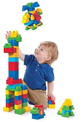 Mega Bloks First Builders Big Building Bag with Big Building Blocks, Building...