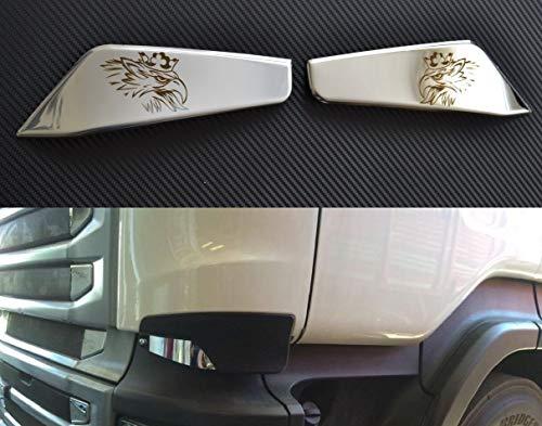 2 grifos de ventilación frontal grabados con láser para camiones Scania R